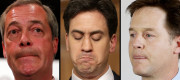Nigel Farage was rebuked for his comments about Nick Clegg and Ed Miliband