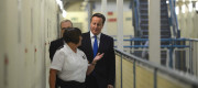 David Cameron visits a prison
