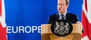 David Cameron speaking in Brussels earlier this year