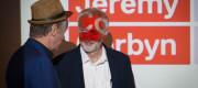 Jeremy Corbyn speaks to Richard Barbrook