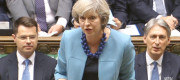 Theresa May faced repeated questions about mental health treatment at PMQs