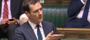 George Osborne speaking during a debate on Syria