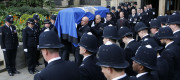 Keith Palmer's coffin