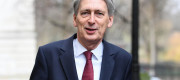 Philip Hammond pictured on Downing St