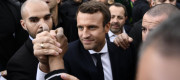 Emmanuel Macron has promised to renegotiate a key border treaty with the UK if elected.