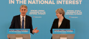 Philip Hammond alongside Theresa May at a campaign event last week