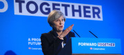 Theresa May launching the Tory manifesto in Halifax last week