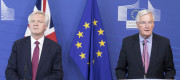 David Davis and the EU's chief negotiator, Michel Barnier