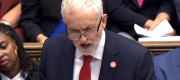 Jeremy Corbyn pictured at Prime Minister's Questions