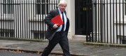 Foreign Secretary Boris Johnson pictured on Downing St