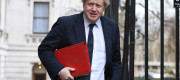 Boris Johnson has again accused Vladimir Putin of acting like Hitler.