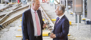Transport Secretary Chris Grayling with Network Rail chief executive Mark Carne