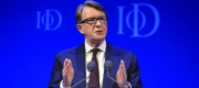 Peter Mandelson at an Institute of Directors event