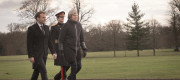 President Macron and Theresa May at Sandhurst last month