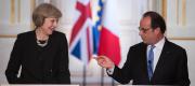 Theresa May and Francois Hollande in Paris
