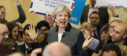 Theresa May at an election campaign event in Dudley