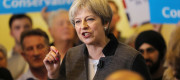 Prime Minster Theresa May delivers a stump speech at Netherton Conservative Club in Dudley