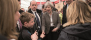 Theresa May meeting voters out on the campaign trail