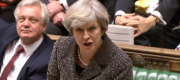 Theresa May at Prime Minister's Questions this lunchtime