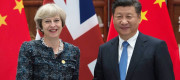 Theresa May and Xi Jinping
