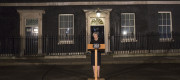 Theresa May makes a statement outside No 10 after Parliament terror attack