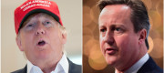 David Cameron and Donald Trump