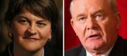 DUP leader Arlene Foster and top Sinn Fein man Martin McGuinness