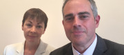 Caroline Lucas and Jonathan Bartley of the Green party