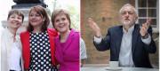 Caroline Lucas, Leanne Wood, Nicola Sturgeon and Jeremy Corbyn