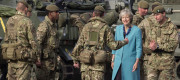 Theresa May meets troops in Salisbury