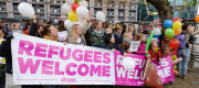 Welcoming group for children from Calais camp