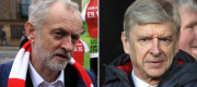 Jeremy Corbyn and Arsene Wenger