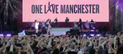 Ariana Grande on stage at the One Love Manchester concert