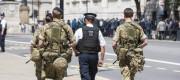 Troops patrol Whitehall