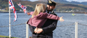 UK Navy submariner is reunited with his daughter
