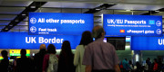 Image of passport control at Heathrow Airport
