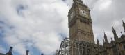 Scaffolding around the Elizabeth Tower, which is due to undergo renovation work