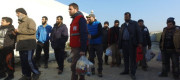 Syrian refugees leave Aleppo