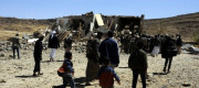 A funeral home that was bombed in Yemen