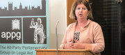 Karen Buck giving a talk at APPG on Legal Aid event
