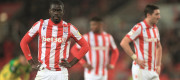 Stoke City players after a loss in their home ground, the bet365 Stadium