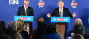Boris Johnson and Michael Gove give a press conference