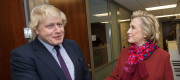 Boris Johnson and Hillary Clinton