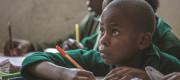 Students attend class at the KEDA DBSA School in Nairobi, Kenya