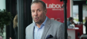 Derek Hatton at Labour's annual conference