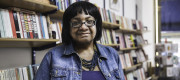 Diane Abbott photographed in Burley Fisher Books in Hackney, east London