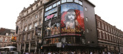 A general view of The Queens showing Les Miserables in London.