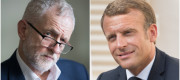 Jeremy Corbyn and Emmanuel Macron