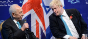Boris Johnson Shimon Peres