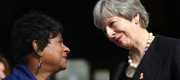 Baroness Lawrence and Theresa May